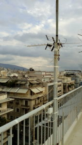 Εγκατάσταση κεραίας Πλατεία Βικτωρίας - Αθήνα (κέντρο)