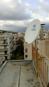 Εγκατάσταση δορυφορικού πιάτου Nova Νέα Ιωνία
