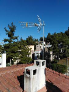 Εγκατάσταση κεντρικής κεραίας τριώροφης οικίας - Δροσιά