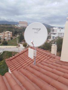 Εγκατάσταση δορυφορικού πιάτου Nova και επίγειας κεραίας τύπου πάνελ - Παλλήνη