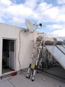 Επισκευή δορυφορικού πιάτου διπλού LNB, (Nova & OTE TV) - Νέο Ψυχικό