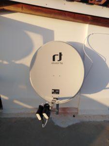Εγκατάσταση δορυφορικού πιάτου με δύο LNB λεπτής κεφαλής για ταυτόχρονη λήψη OTE TV & Nova -Σπάτα