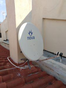 Εγκατάσταση δορυφορικού πιάτου Nova - Γέρακας