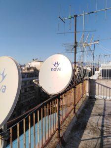 Επισκευή δορυφορικού πιάτου Nova - Κέντρο Αθήνας (Πατησίων)