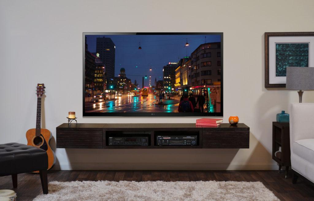 Τοποθέτηση βάσης τηλεόρασης